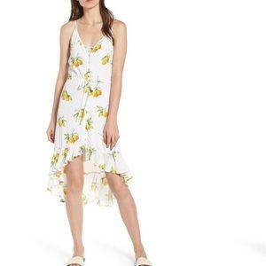 New Rails Frida High/Low Dress Lemon Print XS